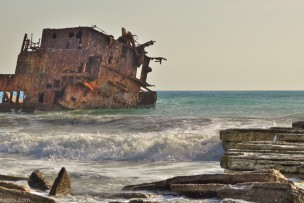 The wreck of the Three Stars cargo ship – Akrotiri Peninsula coast