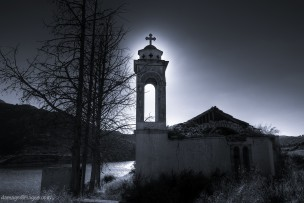 Abandoned church steeple